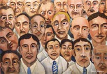 Faces In the Crowd - Political Art about Society -
