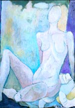 The Looker - Abstract Figurative Painting