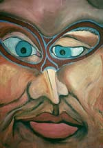 The Looker - Satirical Abstract Close Up Portrait
