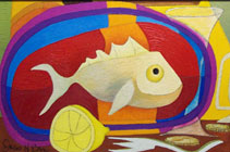 Whimsical Fish Painting by James Homer Brown