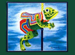 Carousel Frog Card, Carousel prints and greeting cards